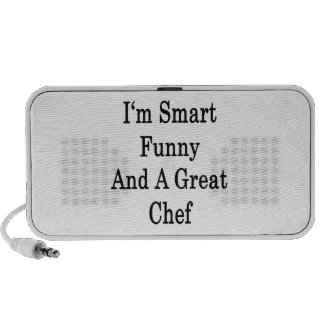 I'm Smart Funny And A Great Chef Notebook Speaker