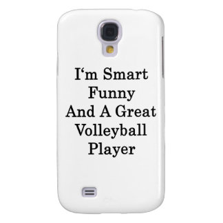I'm Smart Funny And A Great Volleyball Player Samsung Galaxy S4 Cover