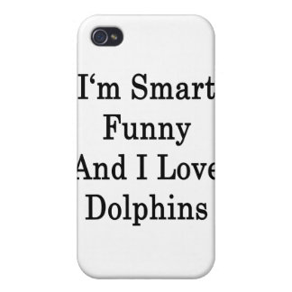 I'm Smart Funny And I Love Dolphins iPhone 4/4S Case
