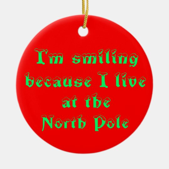I'm smiling because-circle ornament