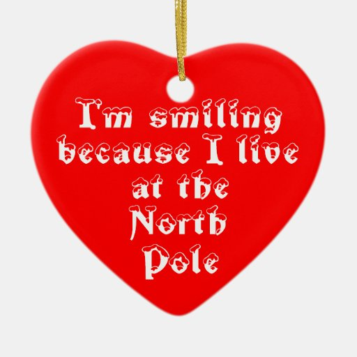 I'm smiling because-heart ornament