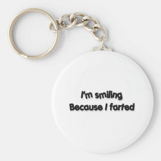 I'm smiling Because I farted Basic Round Button Keychain