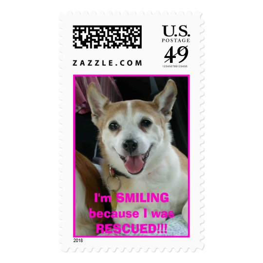I'm SMILING because I was RESCUED! Postage