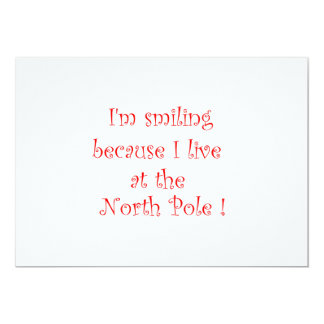 I'm smiling because -invitations card