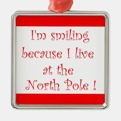 I'm smiling because-premium square ornament