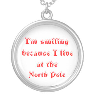 I'm smiling because- sterling silver necklace