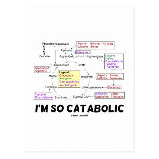I'm So Catabolic (Proteinogenic Amino Acids) Postcard