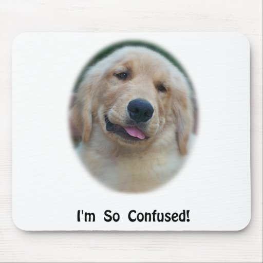 """I'm So Confused"" Funny T-Shirts & Gifts Mouse Pad"