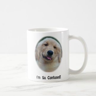 """I'm So Confused"" Funny T-Shirts & Gifts Classic White Coffee Mug"