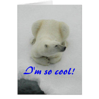 I'm so cool - Polar Bear Card