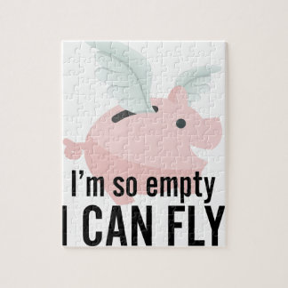 I'm So Empty Can Fly Pig Funny Jigsaw Puzzle