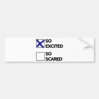 I'm so excited bumper sticker