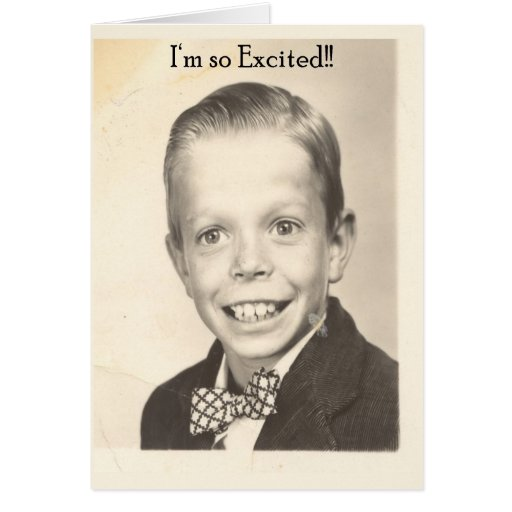 i'm so excited greeting card