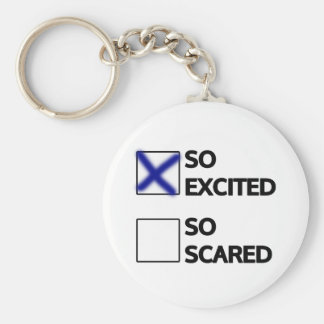 I'm so excited keychain