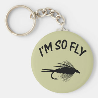 I'M SO FLY BASIC ROUND BUTTON KEYCHAIN