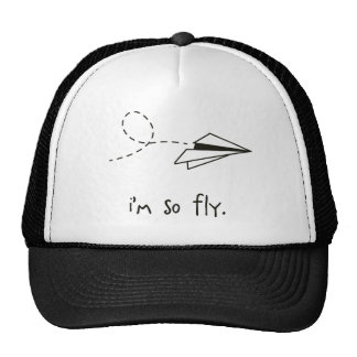 i'm so fly. paper airplane hipster trucker hat
