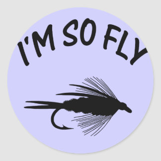 I'M SO FLY CLASSIC ROUND STICKER