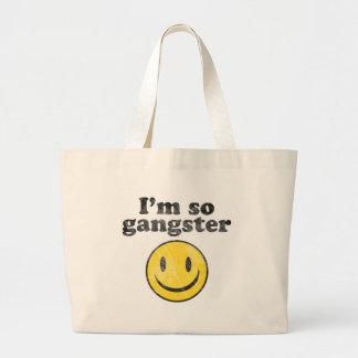 I'm So Gangster Smiley Canvas Bag