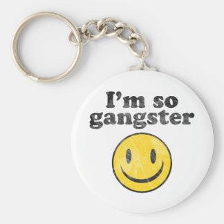 I'm So Gangster Smiley Basic Round Button Keychain
