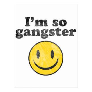 I'm So Gangster Smiley Postcard