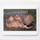 I'm so happy: hippo mouse pad