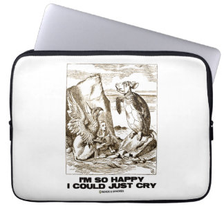 I'm So Happy I Could Just Cry (Alice Mock Turtle) Laptop Computer Sleeve