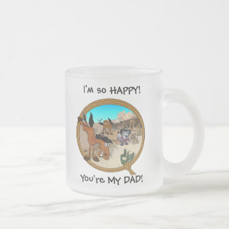 I'm so HAPPY You're My DAD! Frosted Glass Coffee Mug