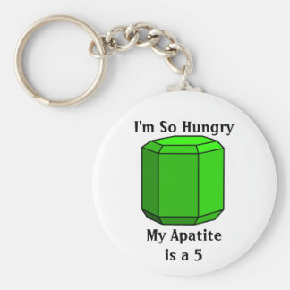 I'm So Hungry, My Apatite is a 5 Basic Round Button Keychain
