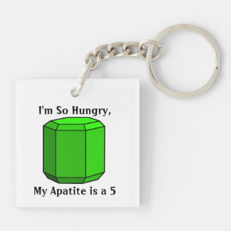 I'm So Hungry, My Apatite is a 5 Double-Sided Square Acrylic Keychain