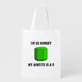 I'm So Hungry, My Apatite is a 5 (Two-Sided) Grocery Bag