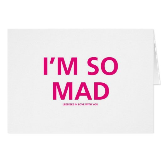 so madly in love with you-Valentines Day Card Zazzle