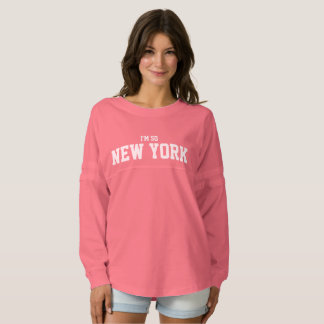 I'M SO NEW YORK [YOUR CITY] Cute Quote Jersey