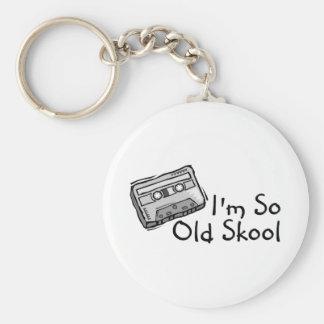 Im So Old Skool Basic Round Button Keychain