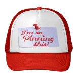 I'm So Pinning This Trucker Hat (red)