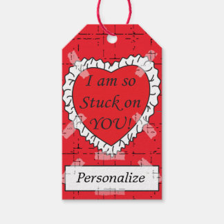 I'm so Stuck On You | Customizeable Gift Tags