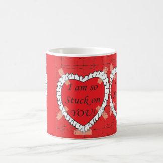 I'm So Stuck On You Valentines Mug