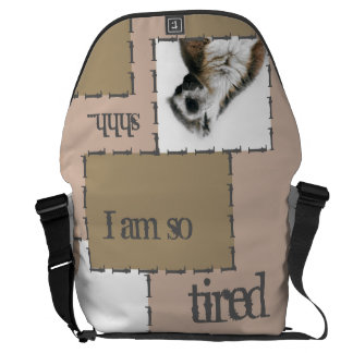 I'm so tired… courier bag