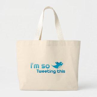 I'm so Tweeting This Jumbo Tote Bag