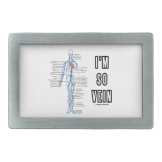 I'm So Vein (Circulatory System Anatomy Veins) Rectangular Belt Buckle