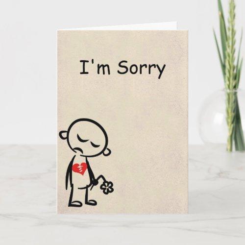 Im Sorry Broken Heart Card Card