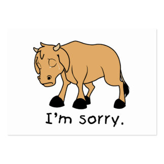 I'm Sorry Brown Crying Sad Weeping Calf Card Stamp