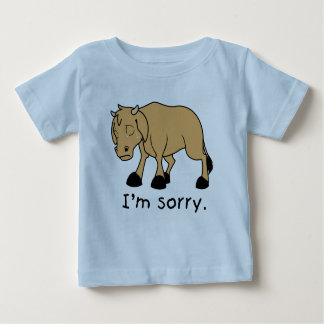 I'm Sorry Brown Crying Sad Weeping Calf Kids Shirt