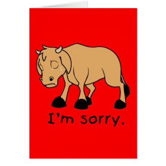 I'm Sorry Brown Crying Sad Weeping Calf Magnet Greeting Card