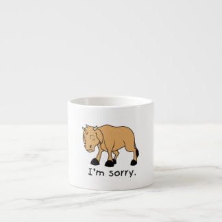 I'm Sorry Brown Crying Sad Weeping Calf Magnet Espresso Cup