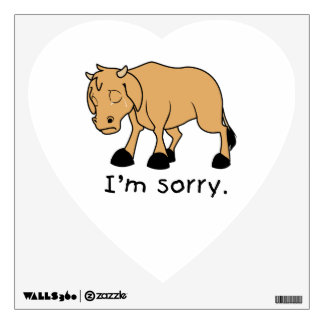 I'm Sorry Brown Crying Sad Weeping Calf Magnet Wall Decals