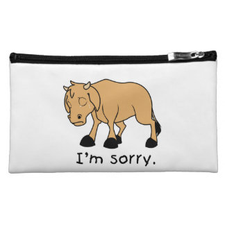 I'm Sorry Brown Crying Sad Weeping Calf Mug Watch Cosmetic Bag