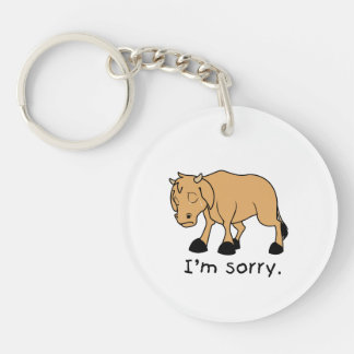 I'm Sorry Brown Crying Sad Weeping Calf Mug Watch Keychain