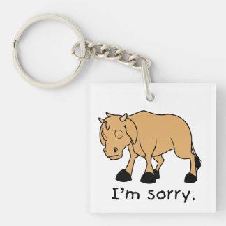 I'm Sorry Brown Crying Sad Weeping Calf Mug Watch Acrylic Key Chains