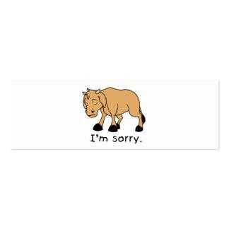 I'm Sorry Brown Crying Sad Weeping Calf Mug Watch Mini Business Card