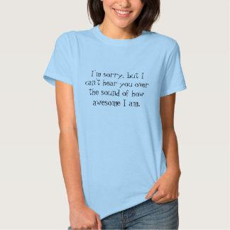 I'm sorry, but I can't hear you over the sound ... Shirt